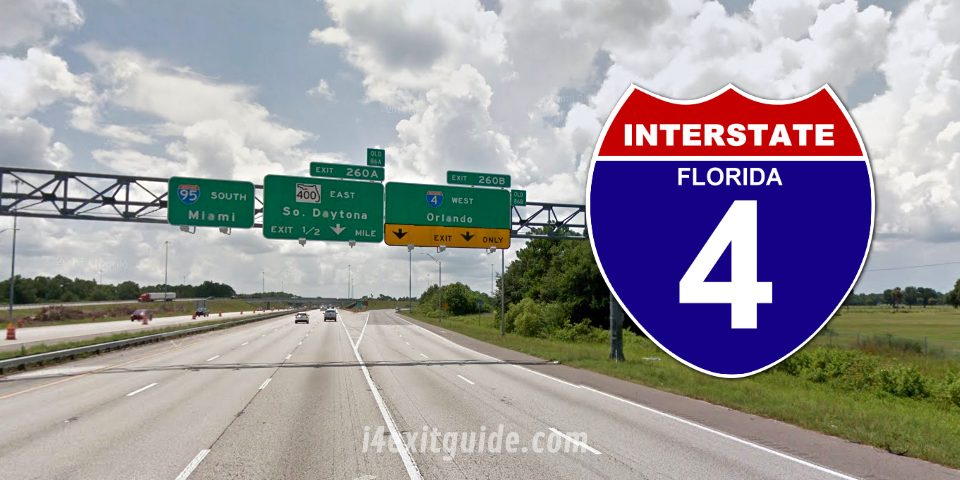 Daytona Florida I-4 Construction | I-4 Exit Guide