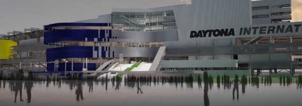 Daytona Speedway Reconstruction Well Underway